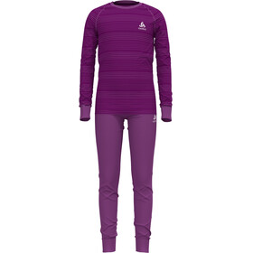 Odlo Active Warm Eco Set Kinderen, hyacinth violet/charisma/stripes